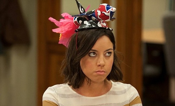 Aubrey Plaza starred as April Ludgate in 'Parks and Recreation.'