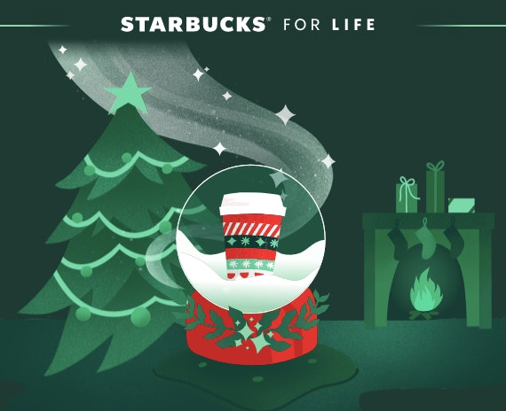 The Starbucks for Life Game features more than 2.5 million prizes.