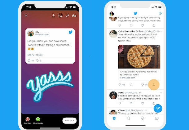 Can you share tweets on Instagram? There may be good news coming.