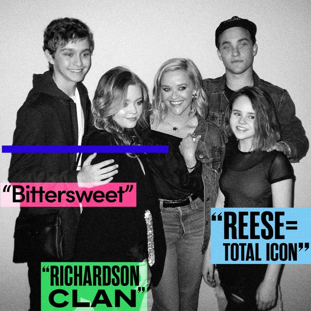 Jade Pettyjohn with the 'Little Fires Everywhere' cast