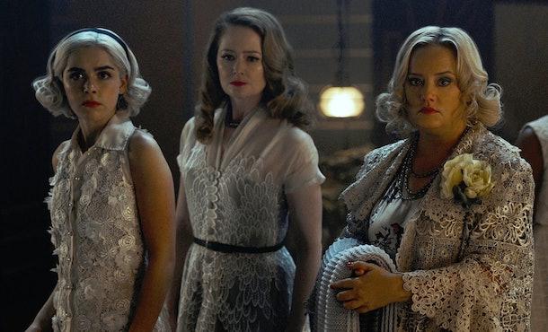 Sabrina, Hilda, and Zelda represent the three aspects of the goddess Hecate.