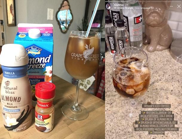 I Tried Tayshia's Iced Coffee In A Wine Glass