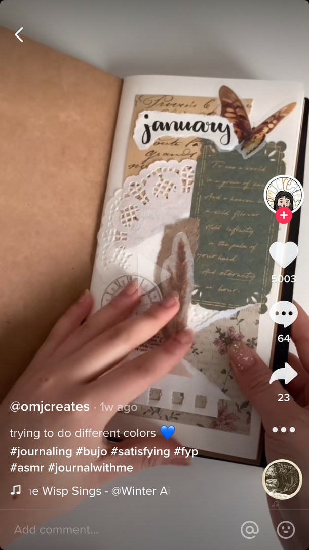 @omjcreates designs January bullet journal entries with different color schemes.