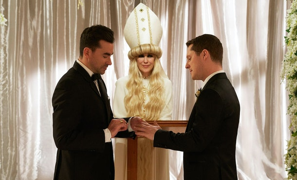The 'Schitt's Creek' series finale ended with David and Patrick's wedding.