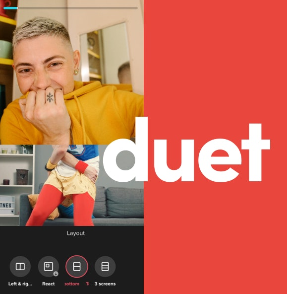 You can choose from different Duet formats on TikTok.