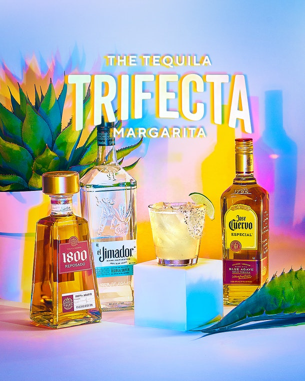 Chili's Jan. 2021 $5 Margarita of the Month features three different tequilas.