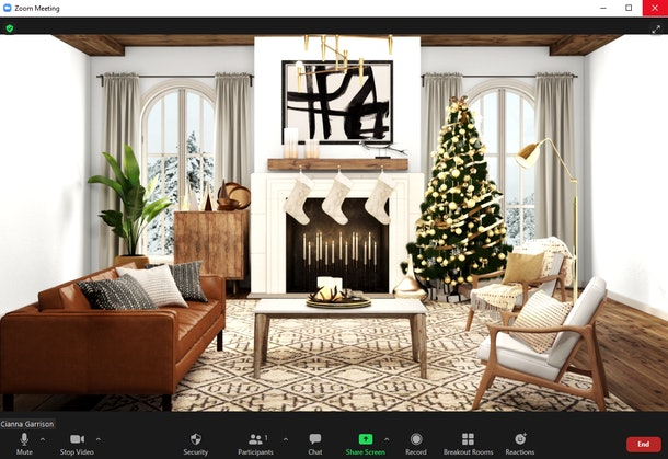 Here are some of the best fireplace Zoom backgrounds to warm up your calls this winter.