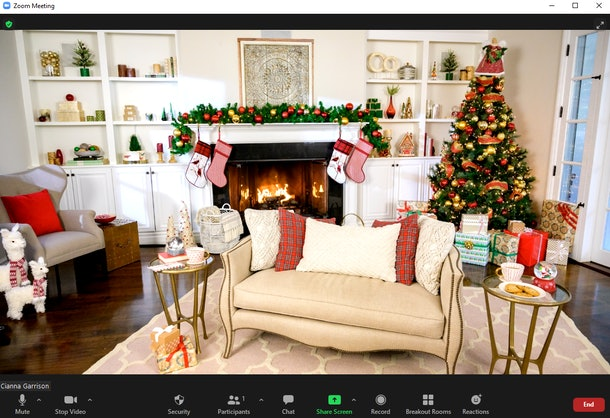 These fireplace Zoom backgrounds will make you feel ready for winter.