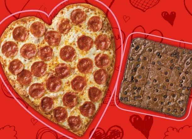 Papa John's heart-shaped pizza and brownie will be available until Feb. 16.
