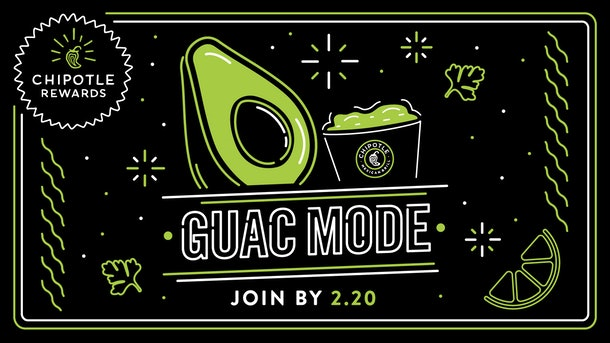 Chipotle Rewards' Guac Mode Promo will get you free guac.