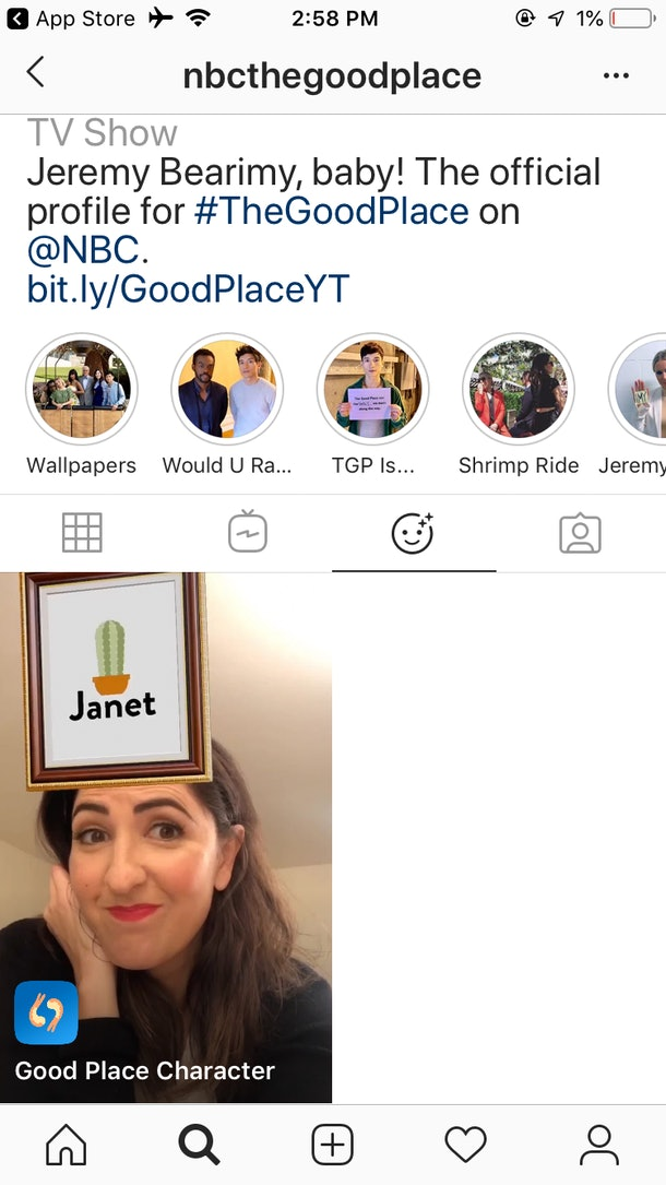 Here's How To Get 'The Good Place' Instagram Story Filter to spice up your selfies.