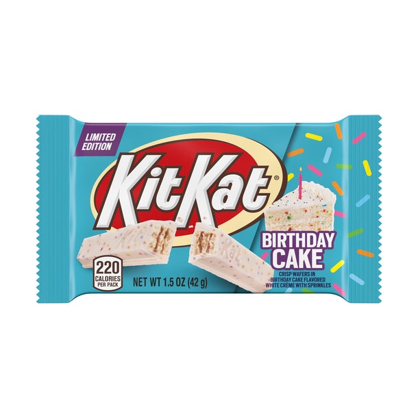 Kit Kat's new Birthday Cake flavor is a spring celebration.