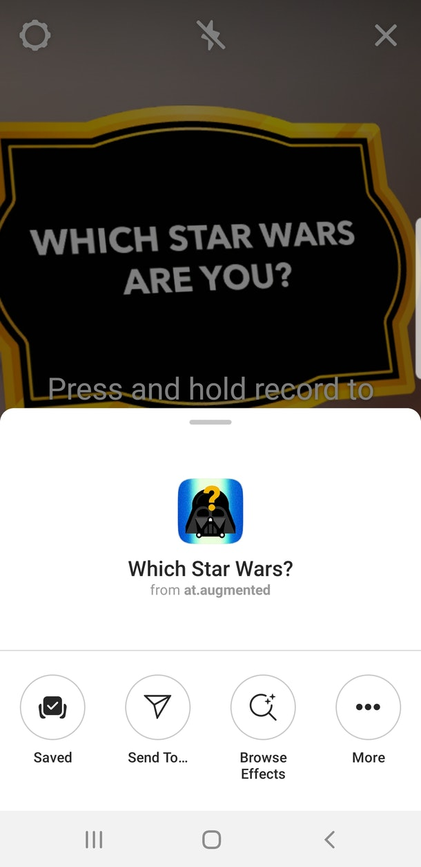 "Here's how to get the ""Star Wars"" Instagram Story filter to see which character you are."