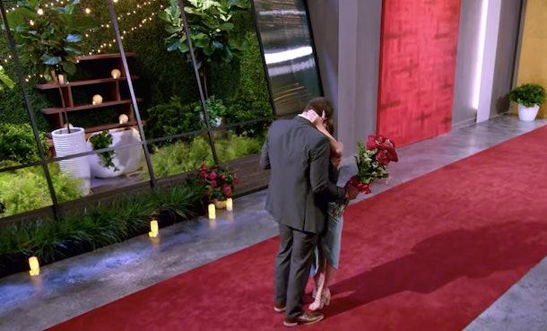 Amber and Barnett kissing