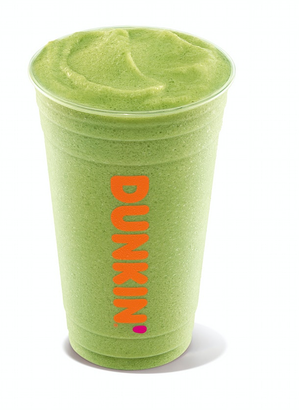 Dunkin's Matcha Latte contains about 120 mg of caffeine.