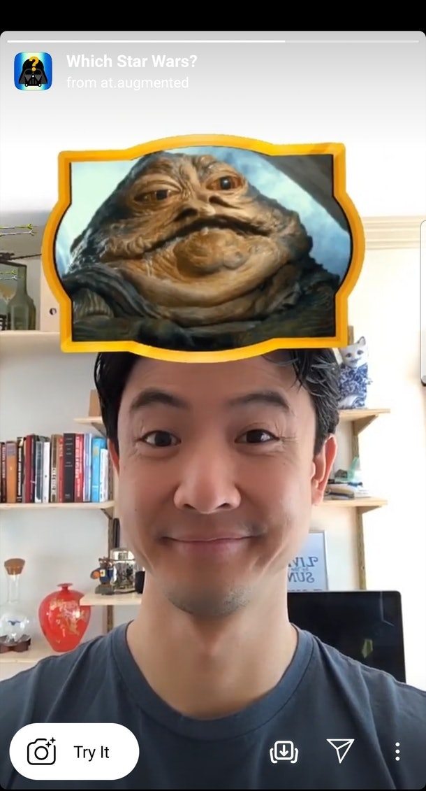 "Get the best Instagram Story AR filters with your fave characters, like the ""Which 'Star Wars'"" filter."