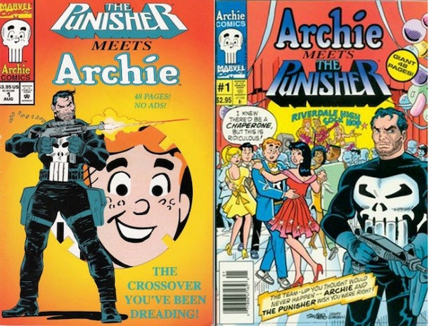 Marvel and Archie Comics released a crossover with Archie and the Punisher in 1994.