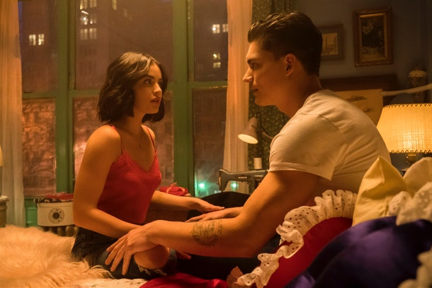 Lucy Hale and Zane Holtz on 'Katy Keene'
