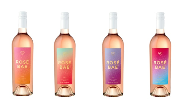 Target's $10 Rosé Bae Wine comes in four different designs.
