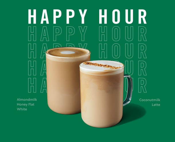 Starbucks' Feb. 6 Happy Hour Deal can get you BOGO on the new Starbucks' sips.