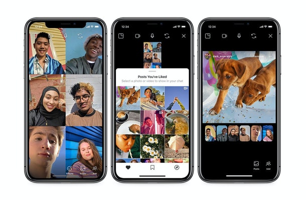 Instagram's new co-watching feature lets you access saved photos and videos during your call.