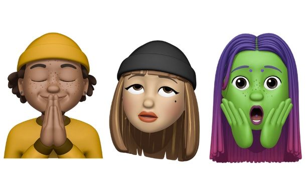 The new Memoji stickers in Apple's iOS 13.4 update include a party face with confetti.