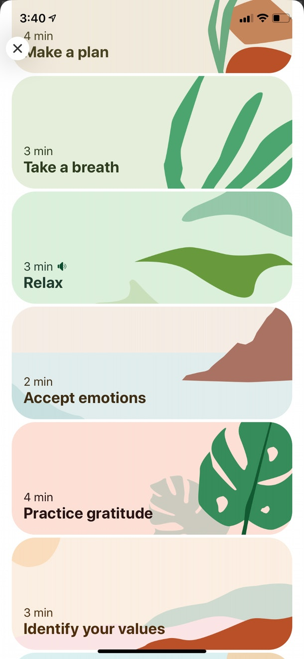 "Pinterest's new ""compassionate search"" feature gives users guided activities to work on their emotional wellbeing."