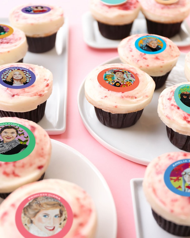 The Sprinkles X Ashley Longshore Women's History Month Cupcakes come as singles or in a box of twelve.