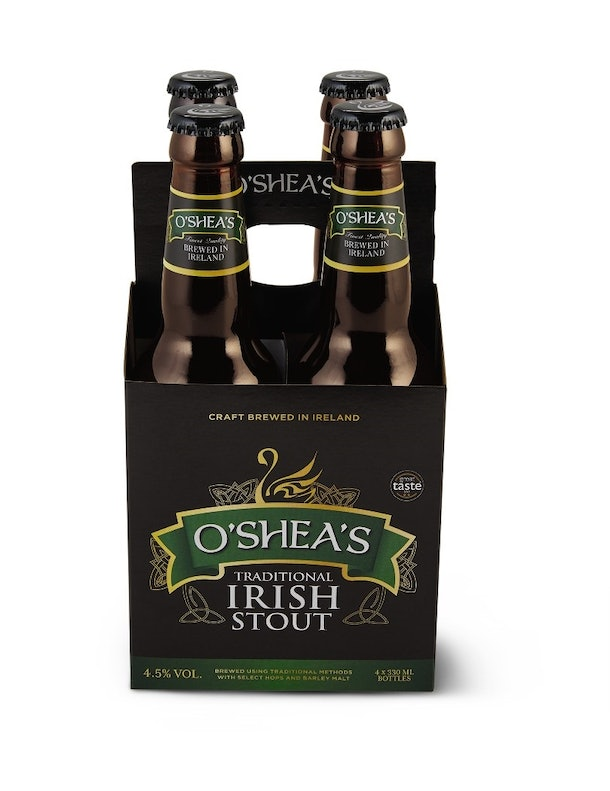 Aldi's St. Patrick's Day 2020 Finds include Irish craft beer.