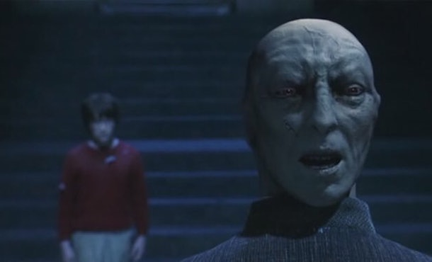 Daniel Radcliffe explained how Quirrell and Voldemort slept in 'Harry Potter.'