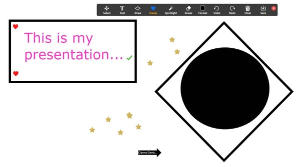 Here's how you can use Zoom's whiteboard feature to create a Pictionary-inspired game.