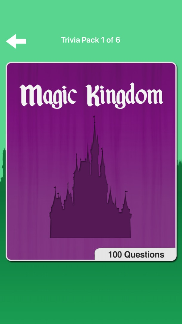 Magic Kingdom is one of the trivia packs in a Disney trivia app for your phone.