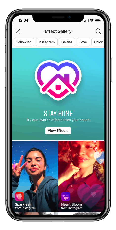 "Here's where to find Instagram's ""Stay At Home"" filters to step up your Stories game."
