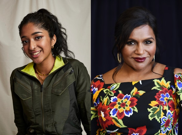 Maitreyi Ramakrishnan and Mindy Kaling