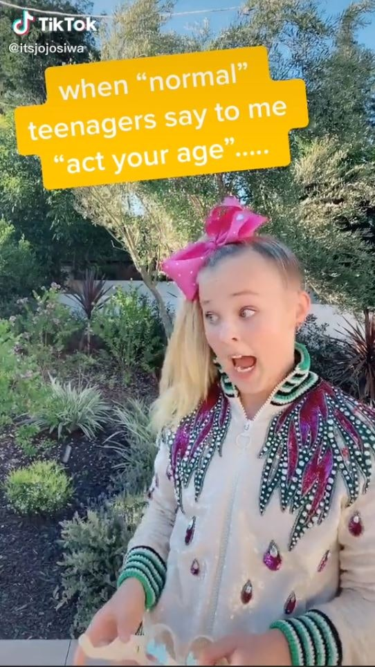 Jojo Siwa's TikTok calling out haters for comparing her to Charli D'Amelio