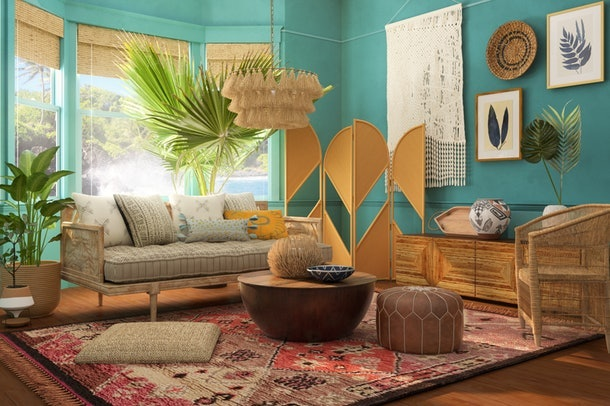 Here are 14 Zoom home backgrounds include designs from Behr and Modsy.