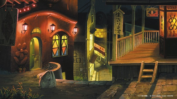 These Studio Ghibli Anime Zoom Backgrounds include ones from Spirited Away.