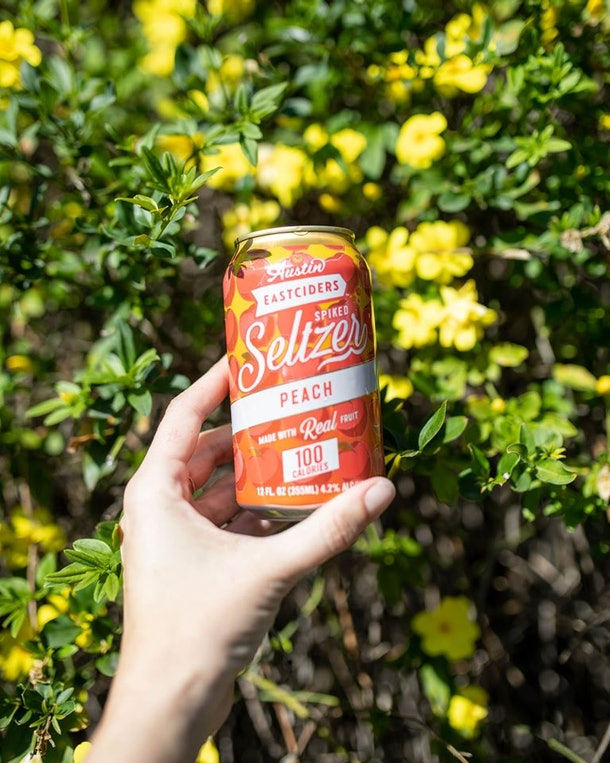 Austin Eastciders' new spiked seltzers include a refreshing peach flavor.