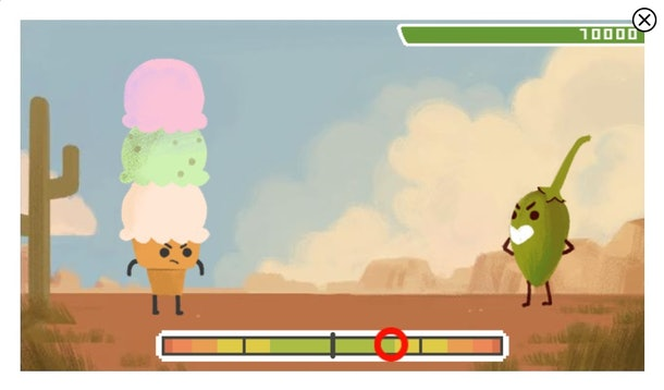The 14 best Google Doodle games to play include the Scoville heat game.