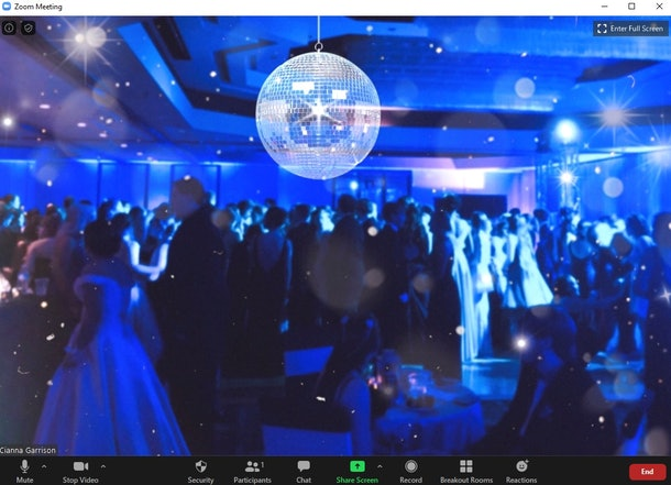 These 14 prom zoom backgrounds are perfect to use when you're celebrating virtually.