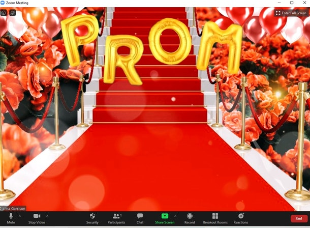 These 14 prom zoom backgrounds are perfect for a remote celebration.