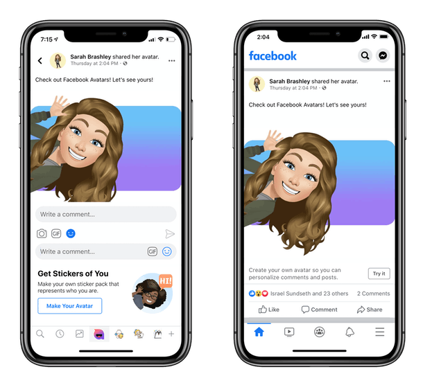 Here's how to use your Facebook Avatar after you customize it.