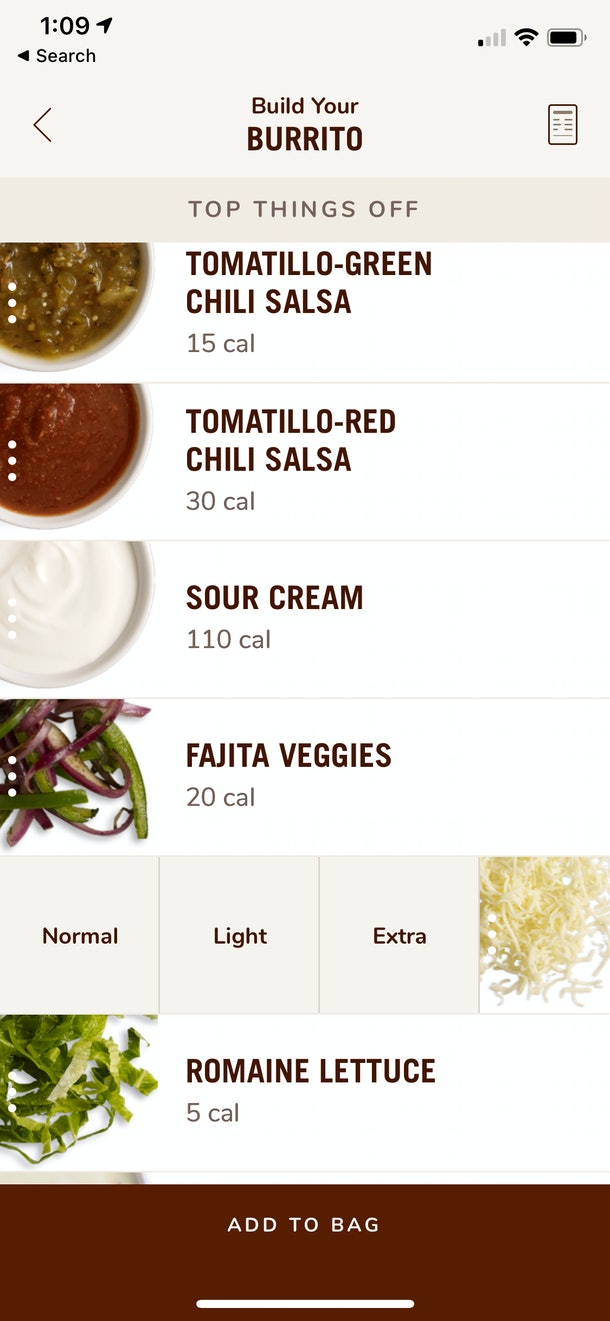 Chipotle launched Complete Customization in the app to help you get exactly what you want.