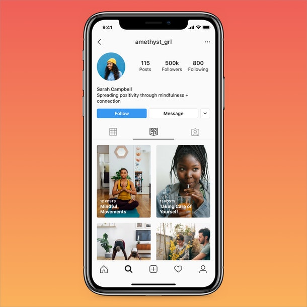 Instagram Guides are currently located in a separate tab.