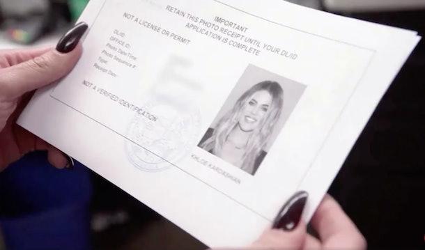 Khloe Kardashian's driver's license photo