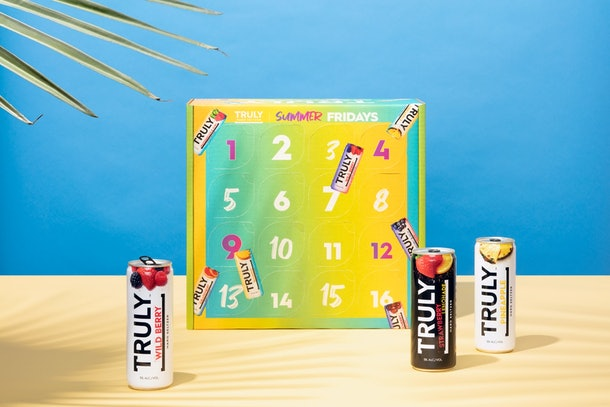 Truly Hard Seltzer's Summer Fridays calendar is colorful and gives you a new flavor to try every week.