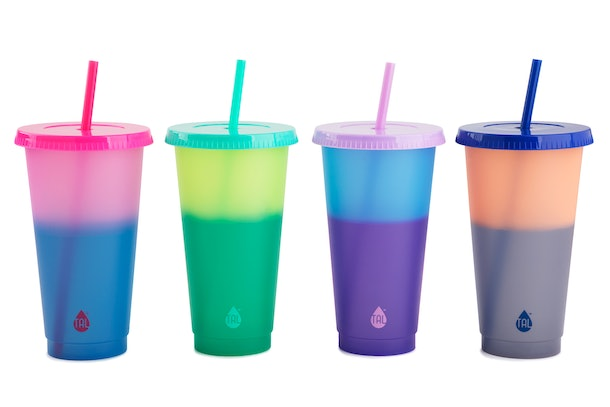 Walmart's color-changing reusable cold cups come in affordable four-packs.