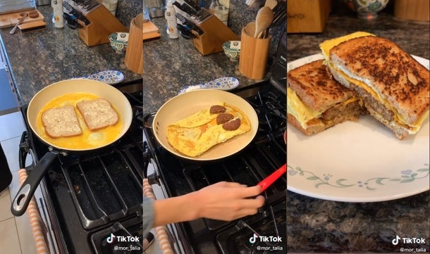 Here are the best TikTok egg sandwich hacks you can try for breakfast.
