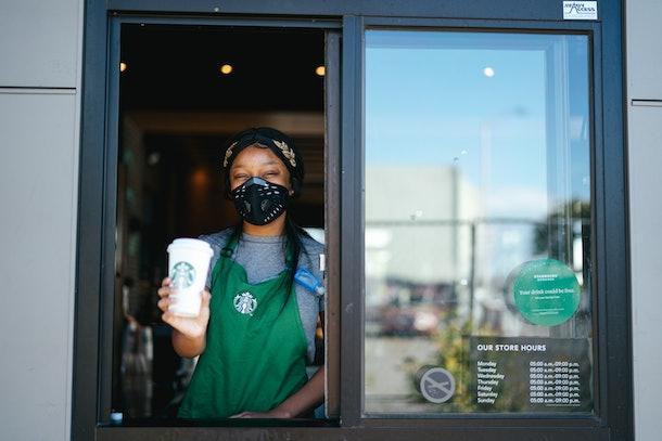 Starbucks' coronavirus plan includes changes to store pick-up.