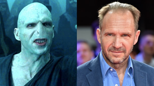 Ralph Fiennes as Lord Voldemort and himself